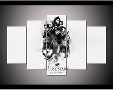 Framed Hd Print 5pcs Game Of Thrones House Stark Canvas Wall Art Painting Home Decor Pt1136
