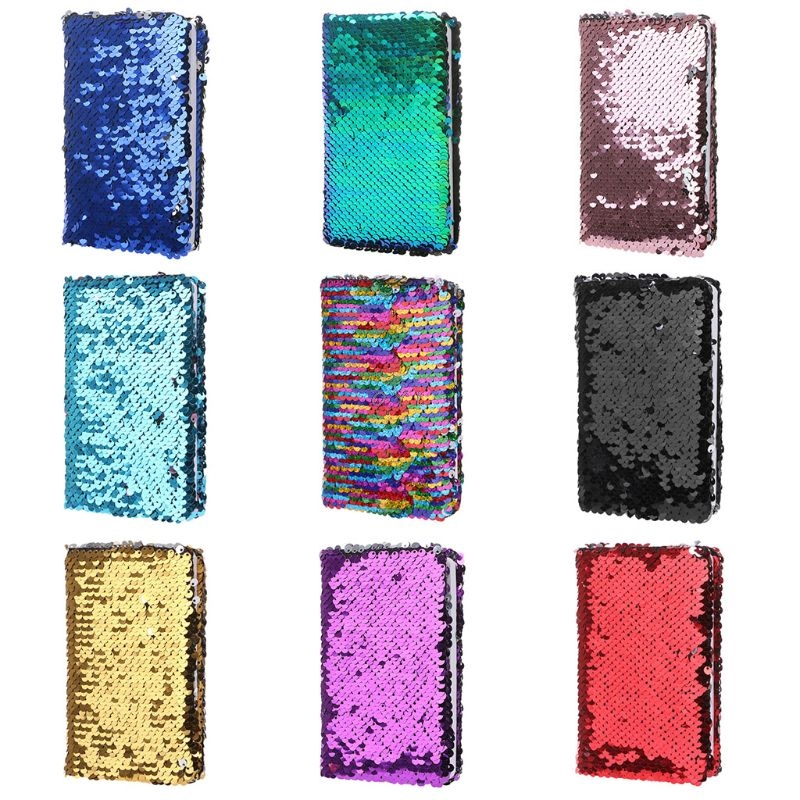 Creative Sequins Notebook Notepad Glitter Diary Memos Stationery Office Supplies Stationery 78 Sheets Newest L29k