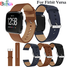 Good Sport Replacement Watchband PU Leather Wrist For Fitbit Versa Strap Bracelet Smart Watch Wristband Band Straps