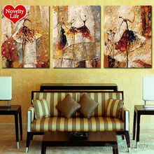 Frame 3pcs Ballet Dancer DIY Digital Painting By Numbers Kit Coloring For Unique Gifts Room Decoration Frameless Paint