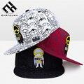 Nueva moda snapback hueso cap mujeres gorra de béisbol unisex snapback hip hop tapa sombrero de los hombres sombrero de ala plana gorras envío de la gota