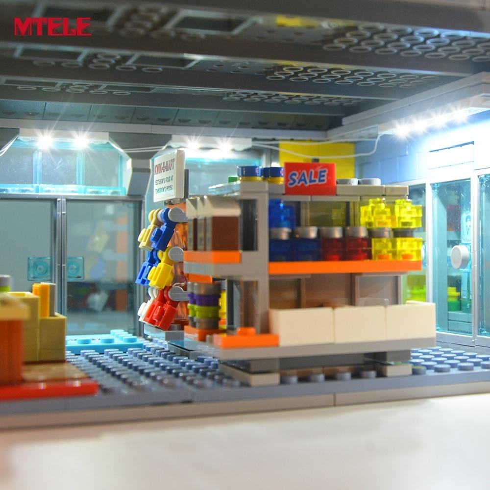 kwik e mart loja bloco de construcao iluminacao kit 02