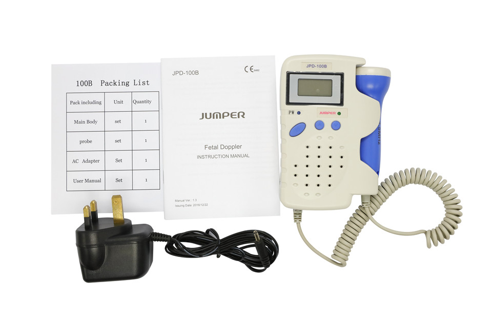 Jumper Handheld Pocket Digital Fetal Doppler JPD-100B 2.5MHz Home Use Baby Heart Rate Detector Monitor with Rechargeable battery (4)