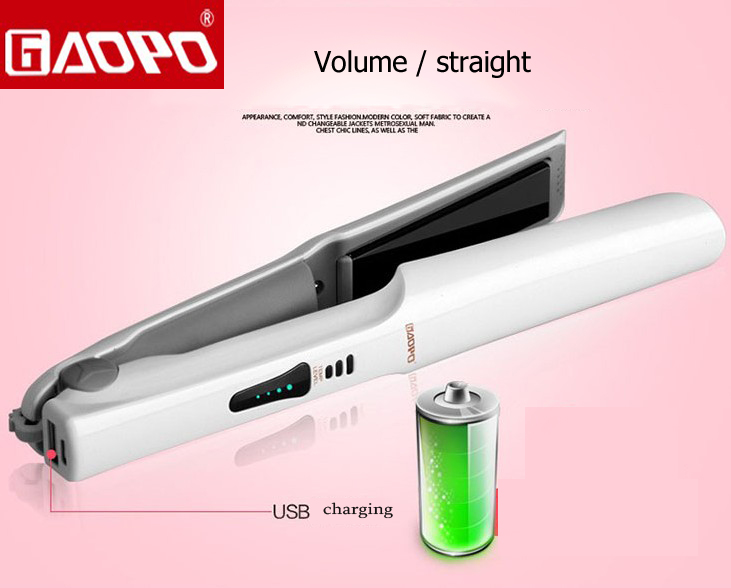 USB טעינה שיער סטרייטנר שיער היישור מיישר קרמיקה שטוחה בקרת טמפרטורה הברזל יכול לגבות עבור סגנון הטלפון