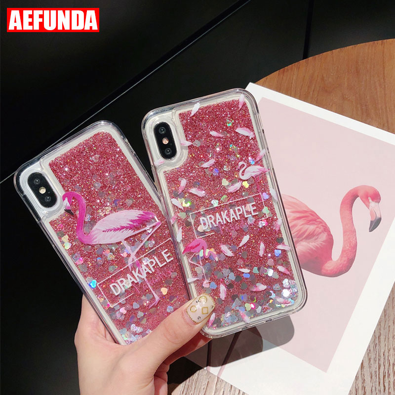 3D Perfume Bottle Quicksand Incoming Call Remind Lighting Up Phone Case for iPhone 6s 6 7 Plus 5S Soft TPU Clear Back Cover Case visa