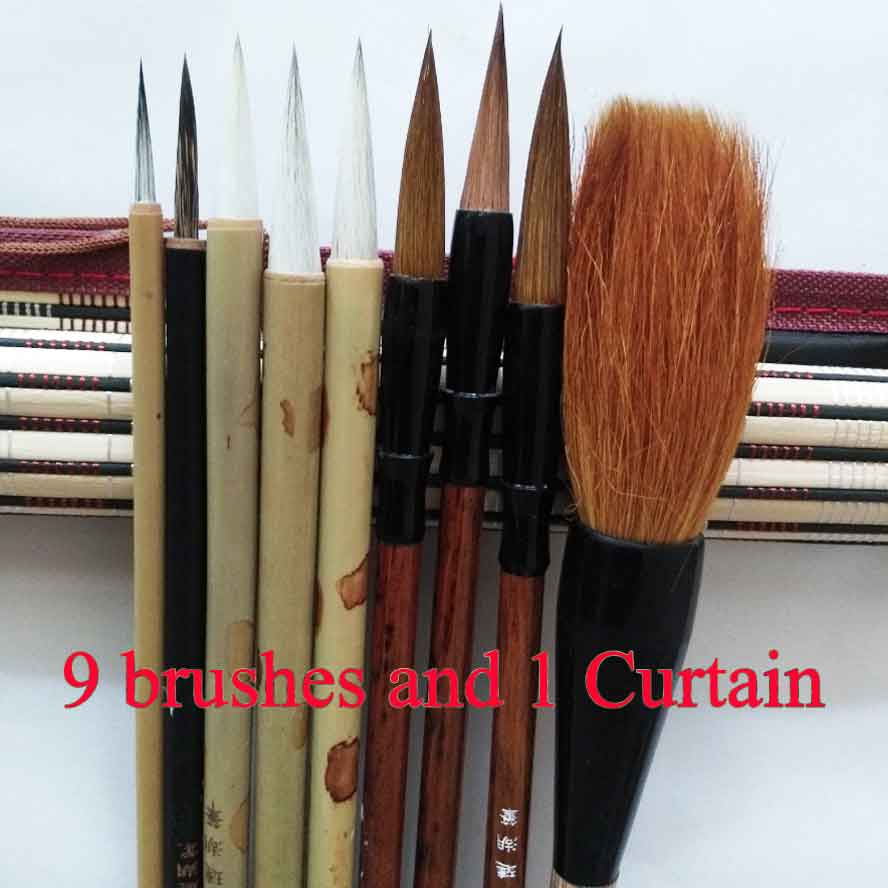 10pcs/pack Chinese Calligraphy Brush set Drawing Water Color Brush Pen Art Supplies Stationary Gouache Paint brush Pinceis wituse 12pcs art paint brush self moistening calligraphy pen s m l size water brush watercolor art supplies each size 4pcs