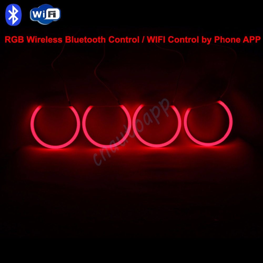 Angel Eyes Cotton DRL Bluetooth Wireless WIFI RGB LED Controller Kit For BMW E30/E32/E34/E38/E39/E46/E90/E92/E36/E53/E60/E61 2pcs lot 24 smd car led license plate light lamp error free canbus function white 6000k for bmw e39 e60 e61 e70 e82 e90 e92