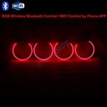Angel Eyes Хлопок DRL Bluetooth Wireless WIFI RGB LED Контроллер Комплект Для BMW E30/E32/E34/E38/E39/E46/E90/E92/E36/E53/E60/E61