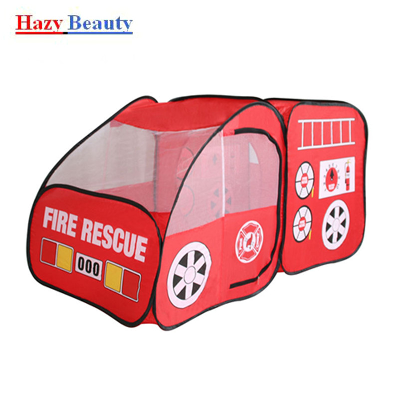 ФОТО Fire truck child tent game house indoor and outdoor fire truck tent baby tent