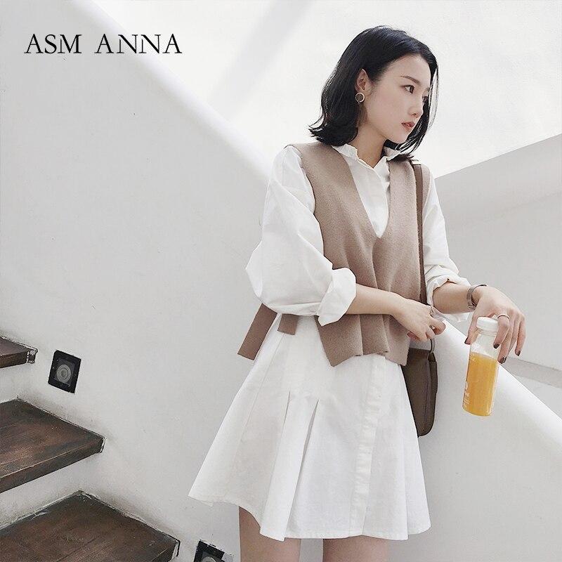 2018 nouveau été femmes vêtements coton Blouse à manches longues dans les hauts blancs pour les femmes 3389