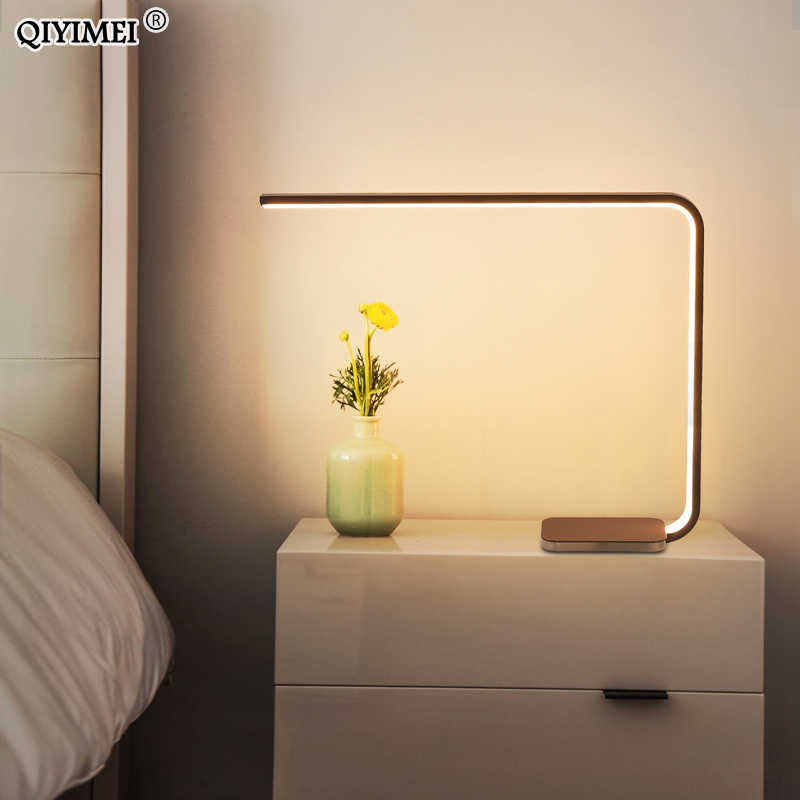 Modern 13W 20W LED Table Lamp For Bedroom Reading Home Desk Light Bedside Fashion Lighting Study Eye Protect US/EU Plug