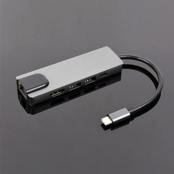 Type-c Dock Macbook Notebook Five-in-one Multi-in-one Converter With Hdmi Network Card