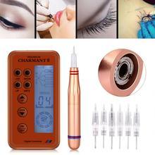 Electric Digital Permanent Rotary Makeup Machine Kits Microblading Pen Gun Eyebrow Lip MTS Tattoo Makeup Pen + Cartridge Needles
