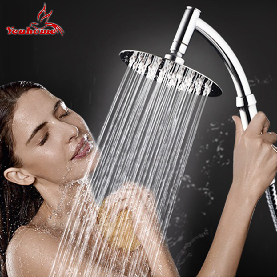 4''/6''/8'' Luxury Stainless Steel Ultra-Thin Large Rainfall Shower Head Bathroom Showerhead High Pressure Hand Held Shower head