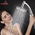 4 /6/8 de acero inoxidable de lujo Ultra-delgada gran ducha de lluvia cabeza cuarto de baño ducha de alta presión de mano cabeza de Ducha