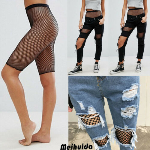 Hirgin 2019 Women Sporty Fishnet Mesh Cycling Shorts Hot Sexy Black High Waist Hollow Out Shorts