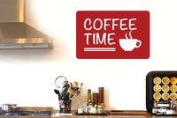 커피 시간 인용 벽 데칼 카페