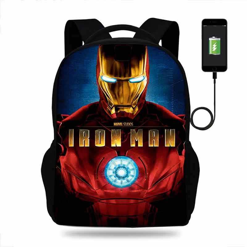 Multifunction USB charging backpack Kids Boys Children
