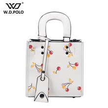 WDPOLO Good quality women bag design simple hot super chic lady messenger bags belt cherry bags classic white female bags z1095