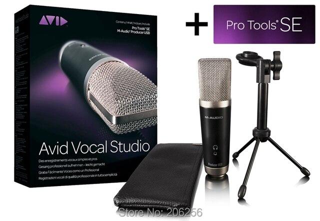 M-AUDIO Vocal Studio micrófono profesional de condensador para estudio de grabación  USB tiene Protools f02713f5822