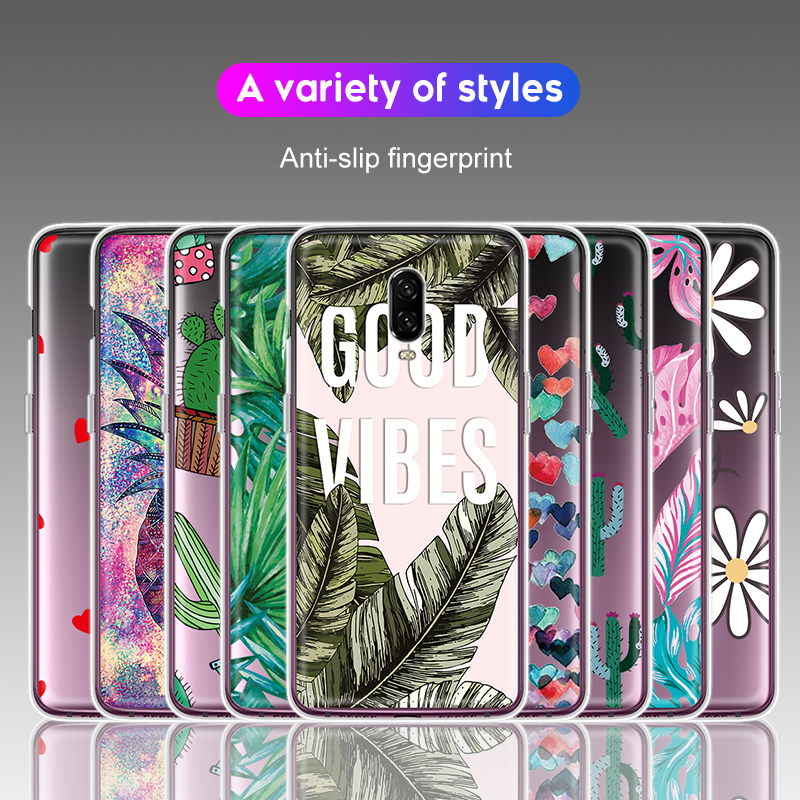 Full Protection Soft TPU Pattern Case For font b Oneplus b font font b 7 b