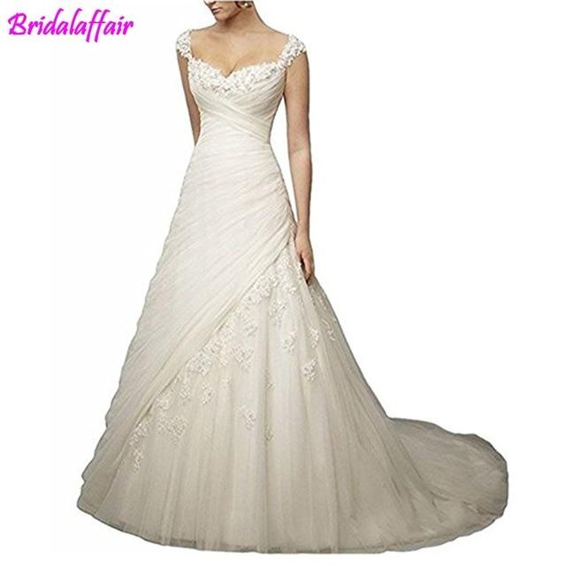 Amanda Novias Hochzeitskleid Women S Le A Line Sweetheart Long Bridal Gowns Bust Lique Ruched Wedding