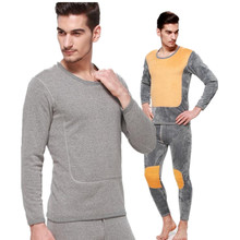New Thermal Underwear Sets Thick Plus Velvet Long Johns Sets Underwear HotWinter Mens Warm Thermal Underwear Mens Long Johns
