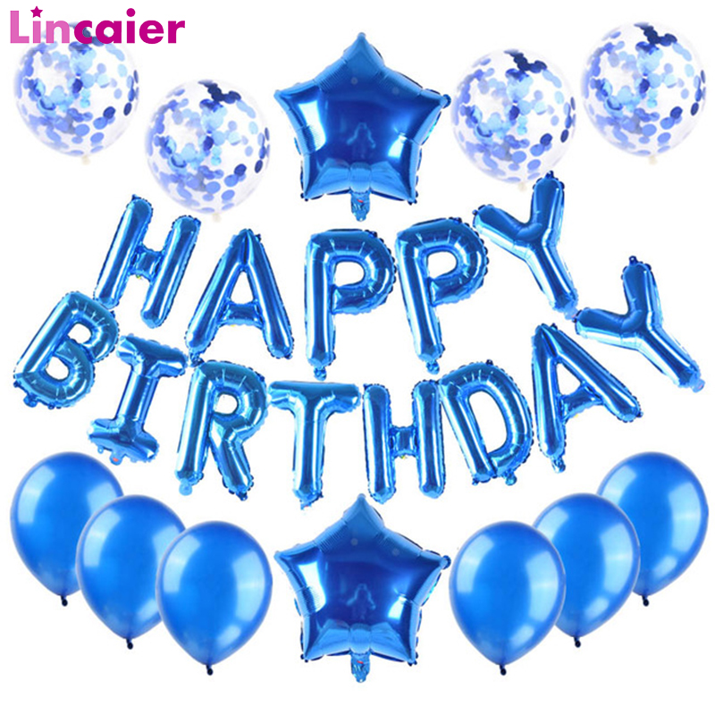 Happy Birthday Balloons Banner First Boy Party Decorations Kids Baby Girl My 1st One Year Adult Garland Supplies