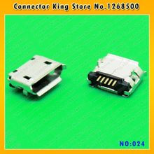 Tablet PC MINI USB larga Jack 5P teléfono móvil Micro USB conector 5pin 2 DIP Pie de Puerto de carga para Nokia/Lenovo/OPPO... MC-024(China)