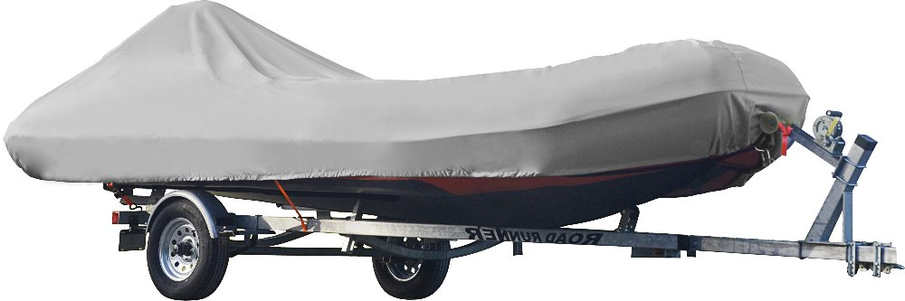 600D PU Coated Inflatable Boat Cover,Fits 12 3/4' To 14' Long, 6 1/3' Wide, 16 1/2