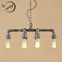 Винтаж Железный светодиодный Люстра, подвесные светильники E27 лампочки стеклянный кулон в виде бутылки свет Fixture110v 220 V для ресторана кроват