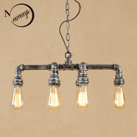 Vintage iron LED lamp pendant lights E27 bulb light glass bottles Pendant Light Fixture110v 220V For restaurant bed room study
