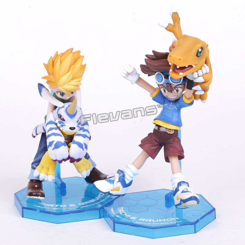 Digimon Adventure YAGAMI TAICHI & AGUMON / ISHIDA YAMATO & GABUMON PVC Action Figure Collection Toy