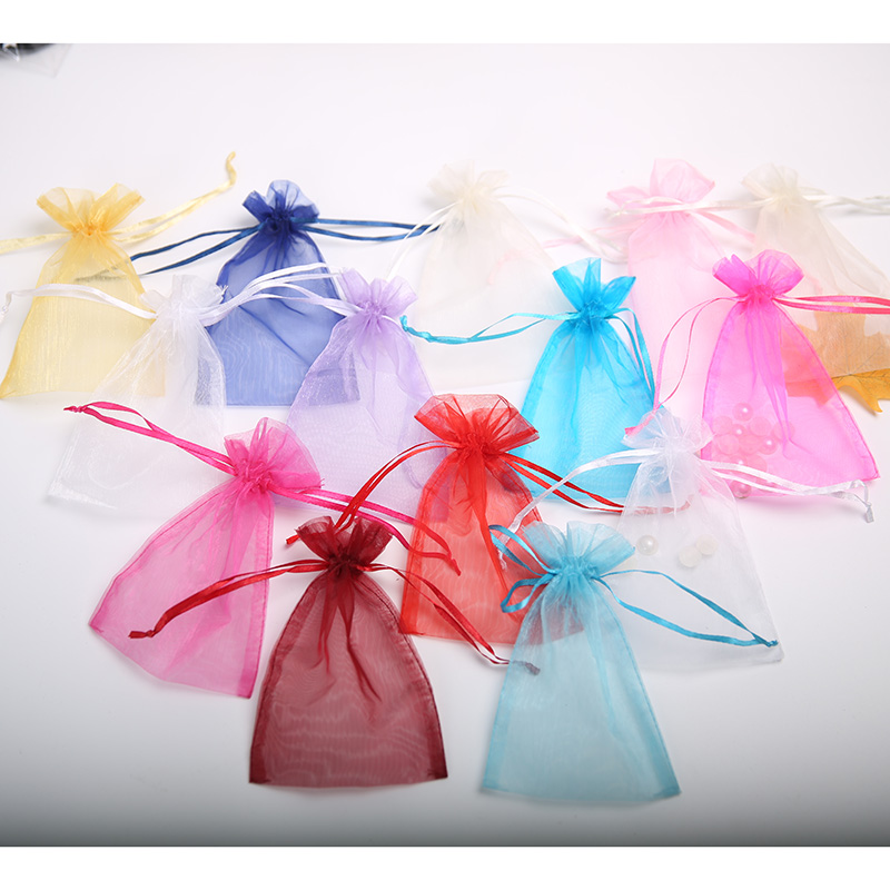 Wholesale 10*15cm Organza Bag Drawstring Pouch Bag Jewelry Gift For Jewelry Display Packaging Bags Organizer Custom Made
