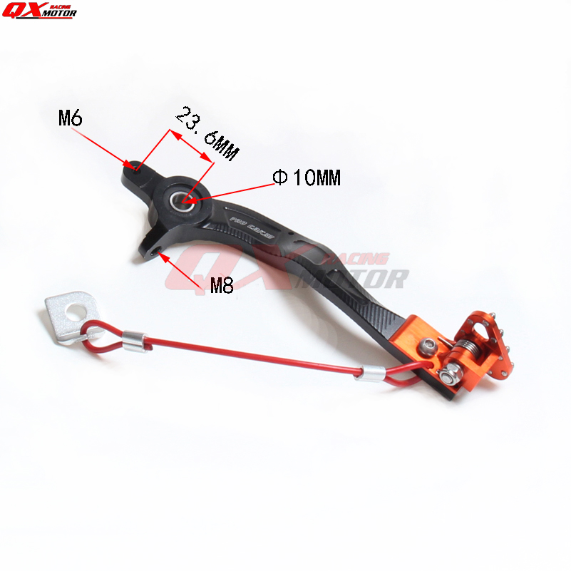 CNC Billet Rear Brake Lever Pedal Alloy with Cable for KTM SX-F//EXC125-530 08-15