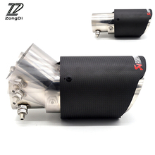 ZD Car-Styling Universal Carbon Fiber Car Exhaust Pipe Adjustable Angle Tips Multi-size Rear Cool Covers Automobiles Accessories