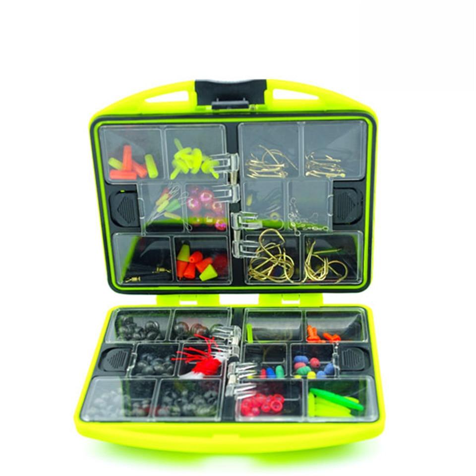 Double Layer  Fishing Accessories Box  Promotion RockSurf Casting Fishing Tackle Box Swivel Jig Hooks Fishing Tools Set