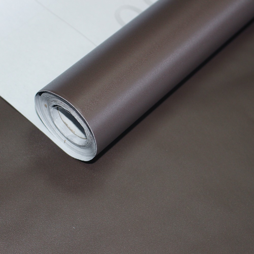 HaokHome Classic Peel and Stick Wallpaper Brown Self-Adhesive Sticker Contact Paper Living Room Bedroom Home for Wall Decoration