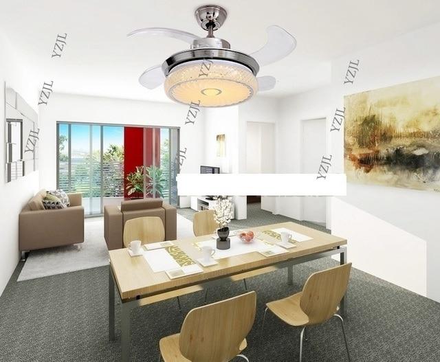 Led stealth plafond licht ventilator licht eenvoudige opvouwbare ...