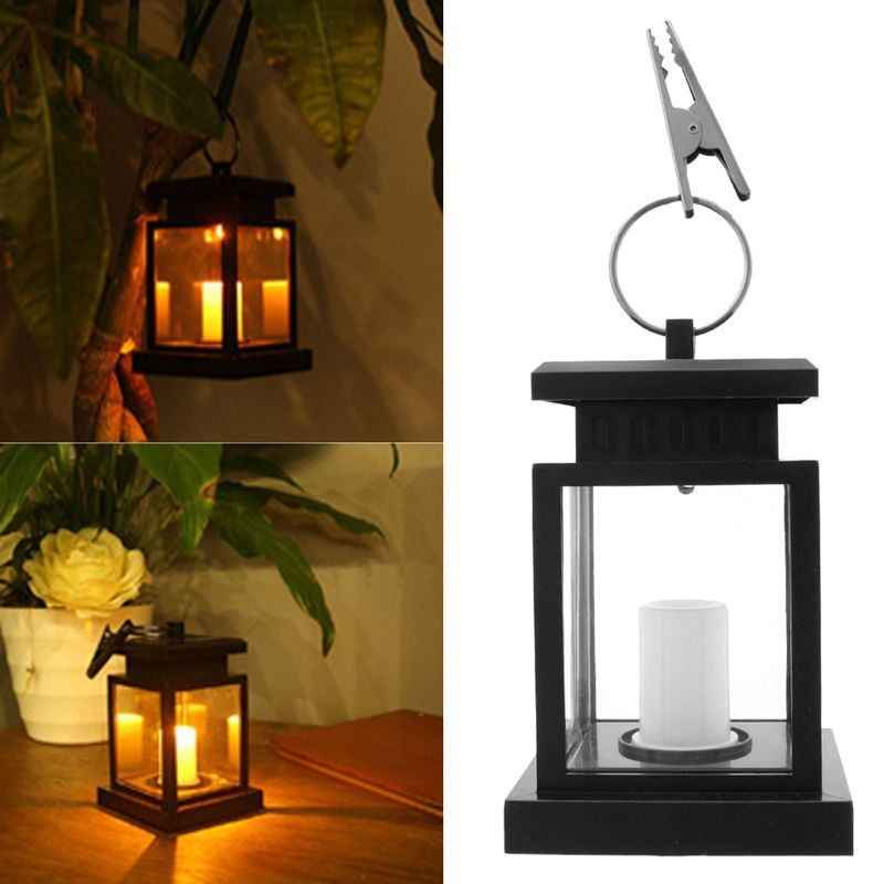 Linterna LED de vela con energía Solar para exteriores, lámpara para exteriores, luz cálida para decoración del jardín, luz pequeña e intermitente con forma de llama