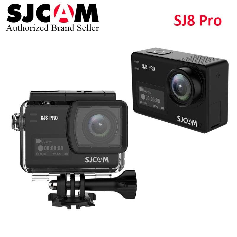 En Stock SJCAM SJ8 Pro 4 K 60fps caméra de Sport étanche Anti-secousse double écran tactile WiFi télécommande Action caméra Sport DV