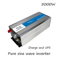 DC AC 5000W Pure Sine Wave Inverter 12V To 220V Converters With Charge UPS Electric Power