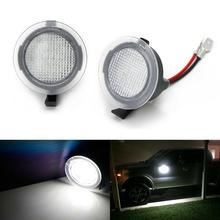 New 2Pcs Car LED Side Mirror Puddle Lights for Ford F150 Edge Taurus Mondeo Explorer