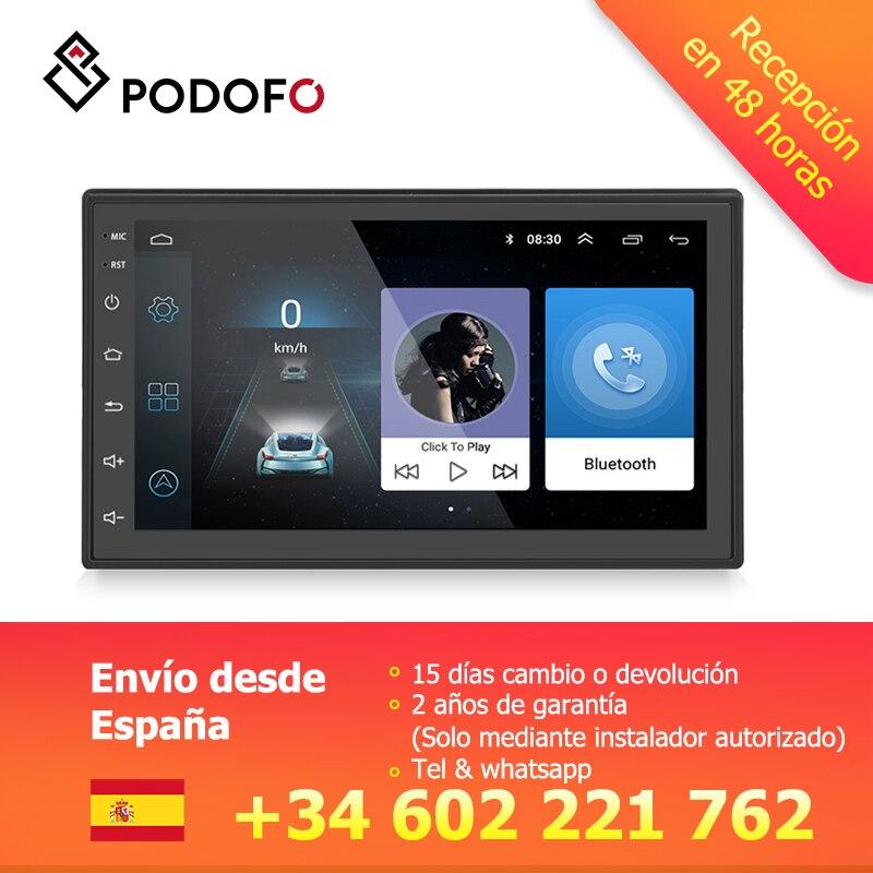 Autoradio Podofo Android 2 din Bluetooth GPS Navigation Wifi Bluetooth FM MP3 Autoradio 2DIN lecteur multimédia voiture Audio Radio