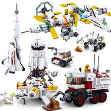 The Space Station Series With Curiosity Mars Explorer Shuttle Saturn Rocket Buidling Blocks Toys As Gifts For Children