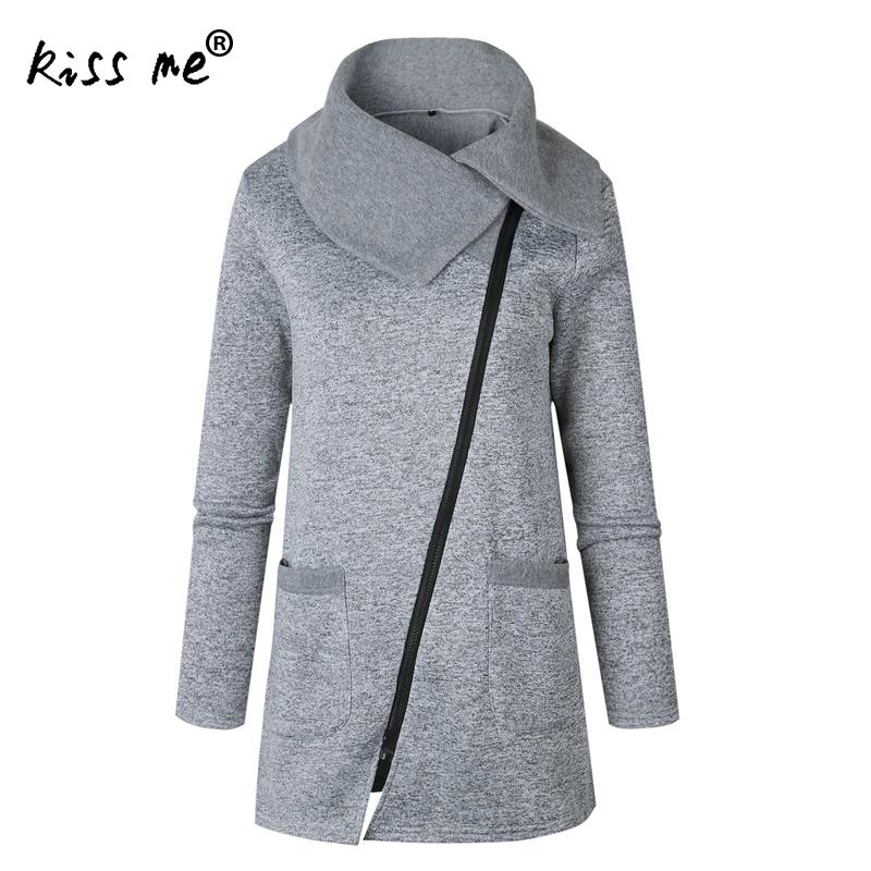 Womens Sweatshirt Long Sleeve Jackets Coats With Zipper Fashion Long Sweatshirts Solid Zipper Sweatshirts Plus Size 3XL 4XL 5XL ...