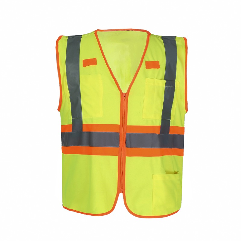 Reflective Vest Safety Vest with Pockets High Visibility Reflective Tape Outdoor