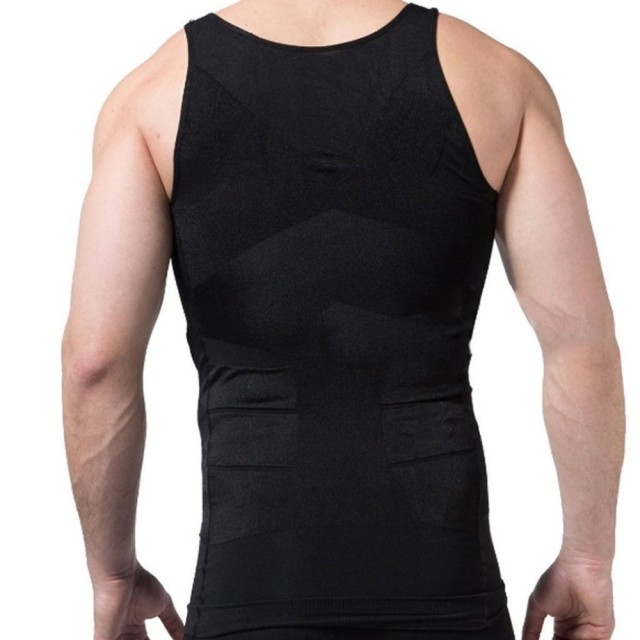 2 Packs White and Black Men Slim Body Lift Shaper Belly Fatty BUSTER Underwear Vest Corset Compression Slimming Body Shaper
