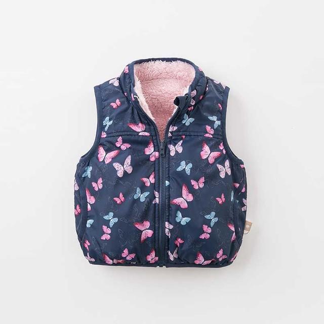 DB9238 dave bella autumn winter reversible unisex baby girls boys clothes children high quality coat kids vest 1 pc