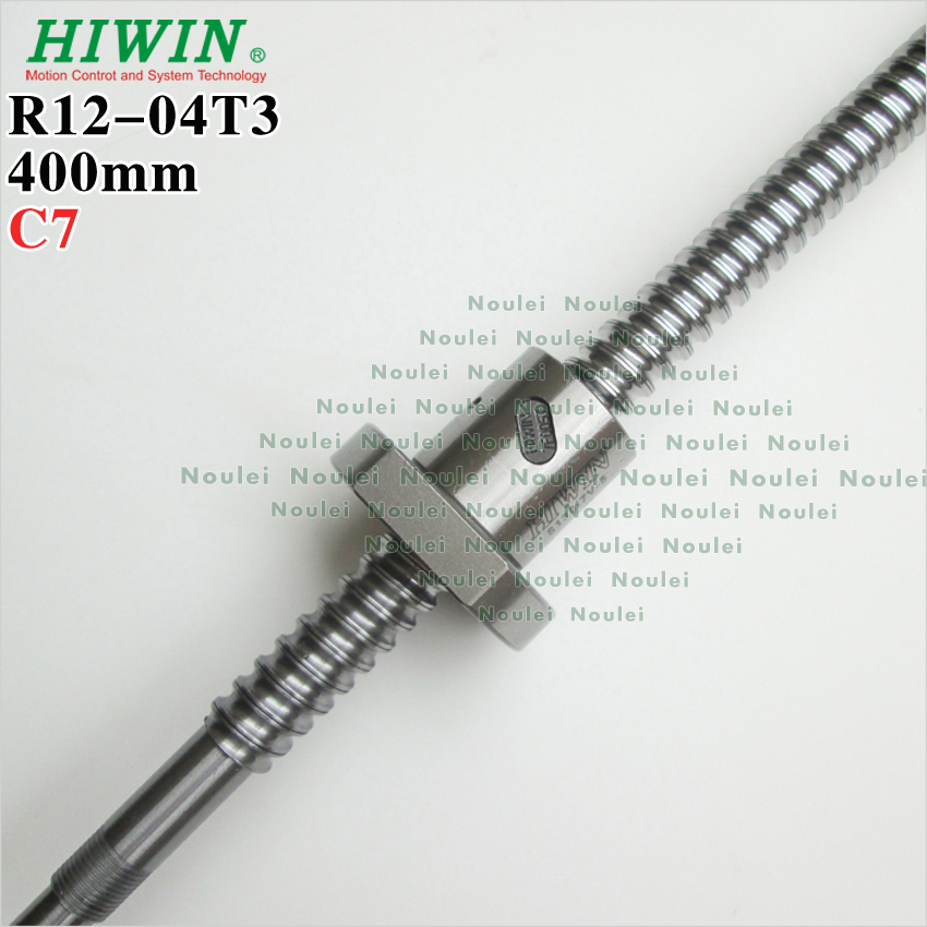 HIWIN 1204 ballscrew 400mm dia 12mm lead 4mm with ball nut machined for high stability 3d printer parts CNC kits 3d printer thsl 400 8d lead screw dia 8mm pitch 1mm lead 1mm length 400mm with copper nut free shipping